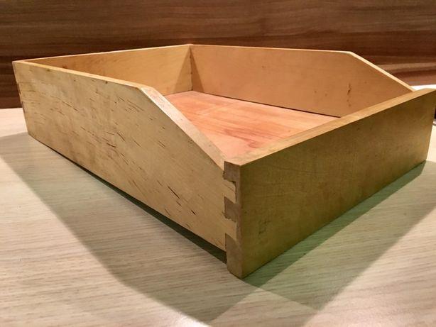 Szufladka drewniana szuflada - vintage / PRL