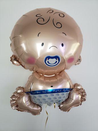Boy chłopiec bobas /balon foliowy/ baby shower- wysokość około 57 cm