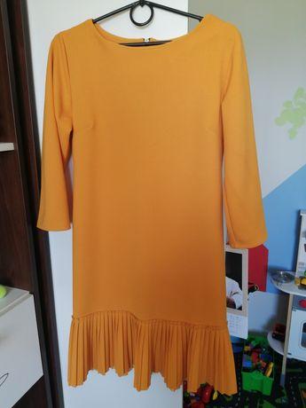 Sukienka m musztardowa
