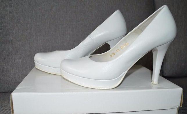 buty ślubne, kolor biały, rozmiar 36, skóra