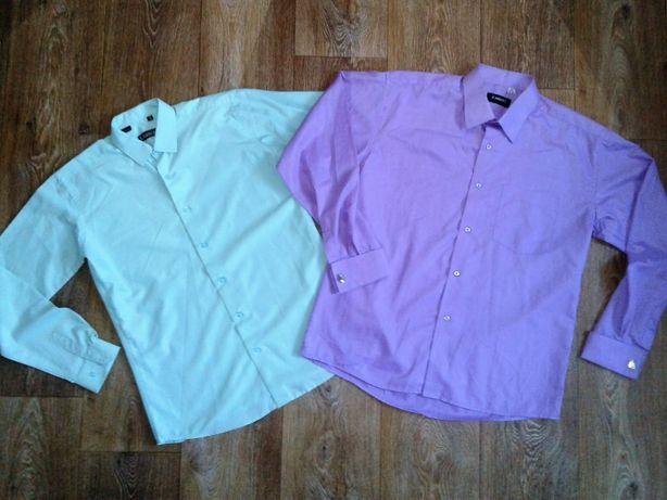 Рубашки цветные и белые школьные на мальчика.