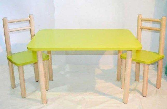 Стол и стул детский лайм.Для детей 3-6 лет. (арт 27).Выбор