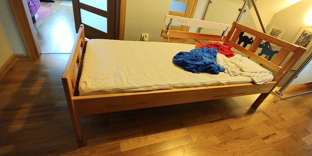 Łóżko dziecięce 70x160 z materacem, prześcieradłami z Ikea