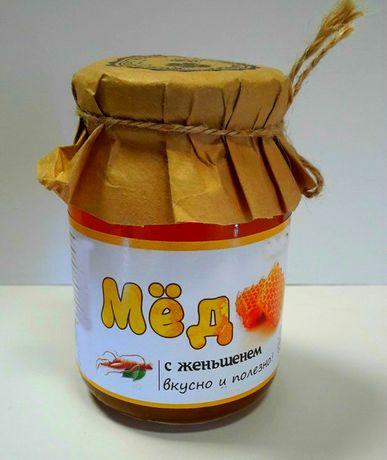 Лісовий мед з корнем Женьшеня,для чоловічої сили (Простатит,потенція)