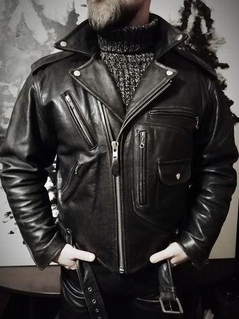 Косуха класическая. Шкіряна куртка. Кожанка.  Байкерская куртка Италия