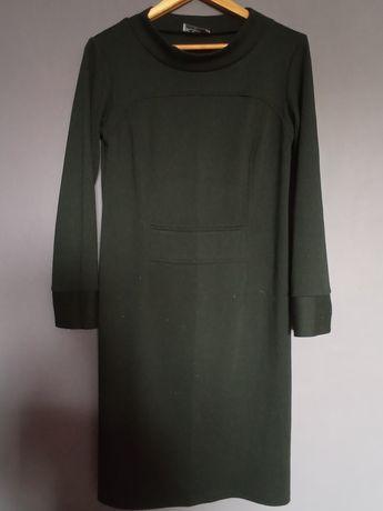 Czarna sukienka z dzianiny dzianinowa midi 42