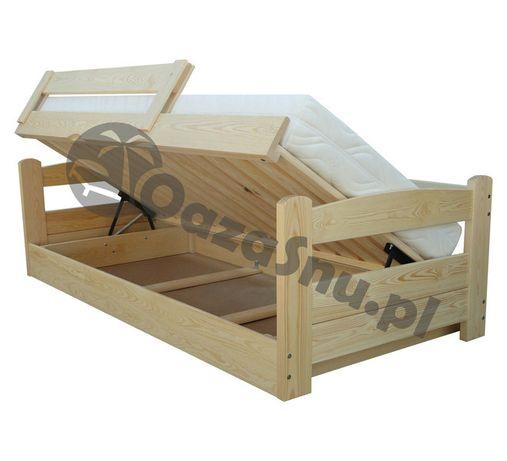 łóżko bezpieczne z pojemnikiem otwierane z boku TURBO 80x160