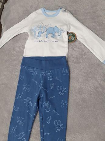 Zestaw komplet nowy body spodnie bawelna organiczna 80