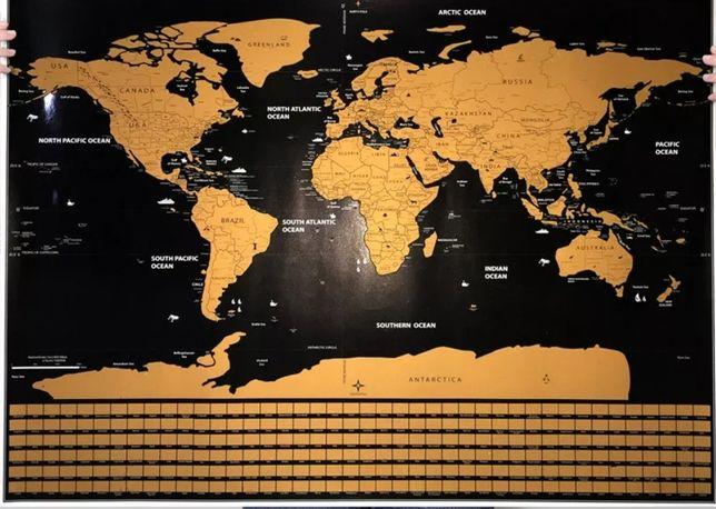 Mapa mundo de raspar