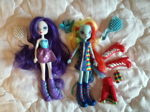 Oryginalne lalki Equestria Girls Rarity i Rainbow Dash
