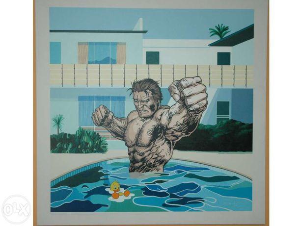Quadro original pintura em tela pop art internacional de Nuno Raminhos