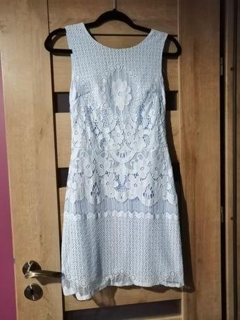 Sukienka 34,36 z gipiurą