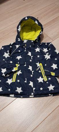 Kurteczka kurtka H&M jesień/zima + kożuszek +czapeczki rozm 74