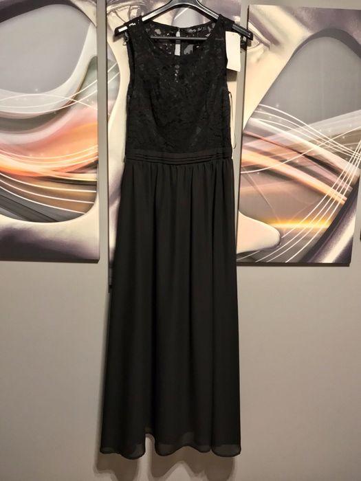 Dluga, czarna sukienka Legionowo - image 1