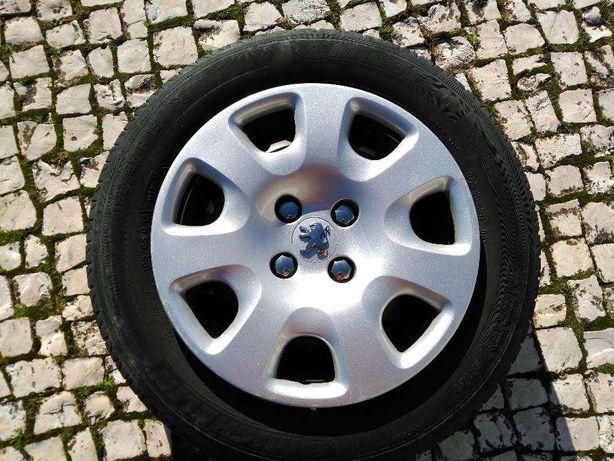 "Jantes 15"" Peugeot/Citroen e tampões Peugeot"