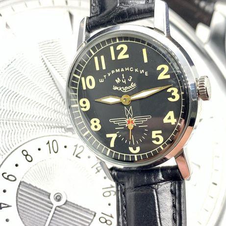 Часы Штурманские Победа нерж корпус и два стекла полет ракета луч заря