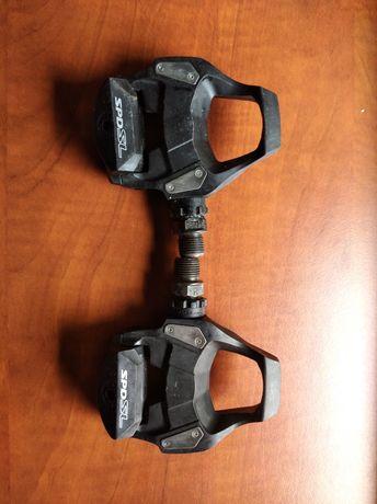 Pedały rowerowe szosowe Shimano RS500 SPD-SL + bloki