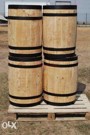 BECZKA drewniana BECZKI drewniane nie dębowe dekoracja doniczka kwiaty