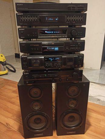 Zestaw Stereo Sony wzmacniacz CD tuner deck