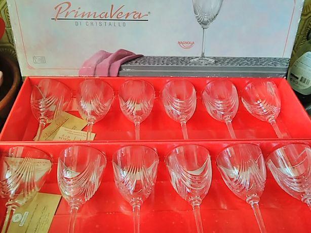 46 copos de cristal italiano - Primavera di Cristallo