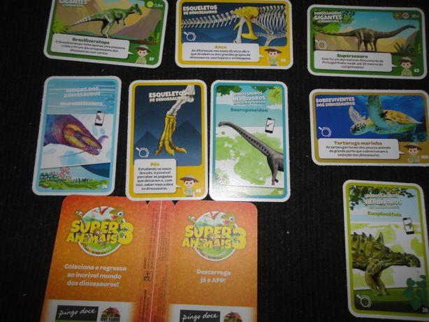 Cartas Pingo Doce Super Animais 3 Dinossauros