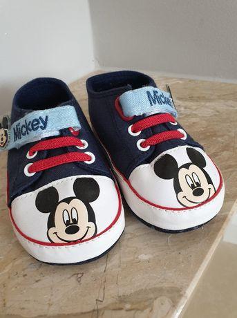Buciki dziecięce Mickey Mouse, wkładka 13cm, rozm. 21, nowe