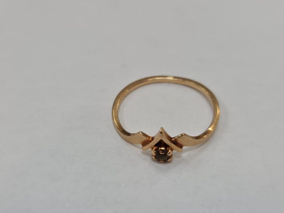 Retro! Klasyczny złoty pierścionek damski/ 585/ 1.35 gram/ R17/ Gdynia Gdynia - image 1