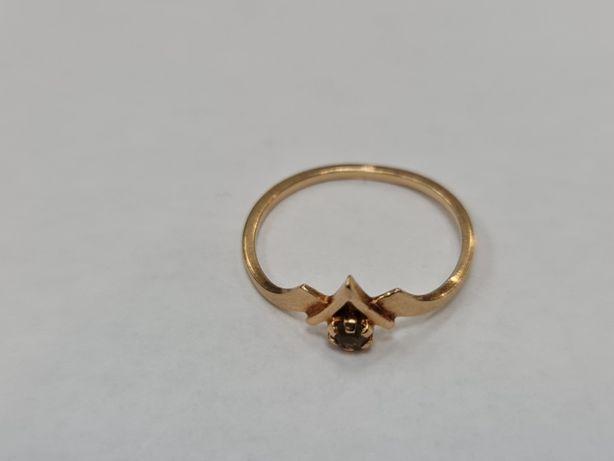 Retro! Klasyczny złoty pierścionek damski/ 585/ 1.35 gram/ R17/ Gdynia