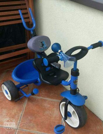 Rowerek dziecięcy. Niebieski z trąbka.