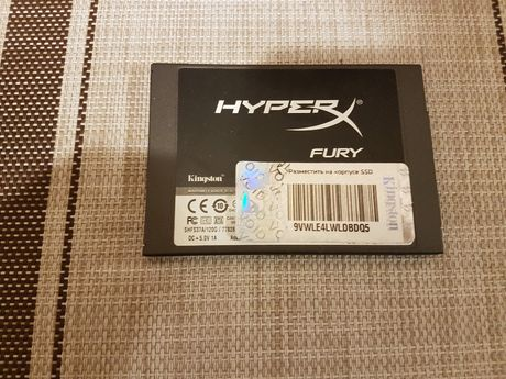SSD 120GB HyperX FURY. ТОП скорости на MLC памяти