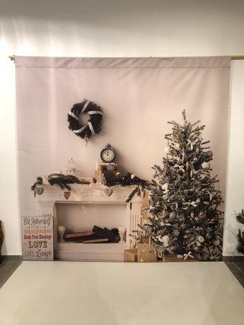 Tło materiałowe świąteczne Pastelowe Marzenia