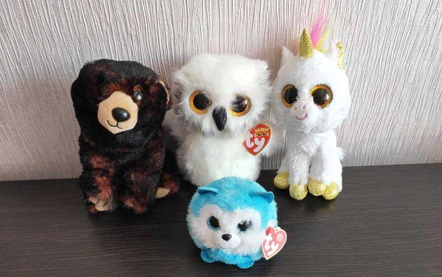 Мягкие игрушки марки TY, новые или почти новые. Глазастики недорого