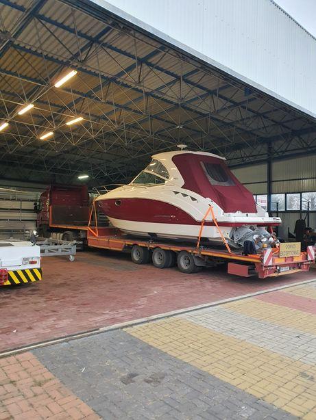 Transport niskopodwoziowy maszyn, ciągników, jachtów, mat. budowlanych