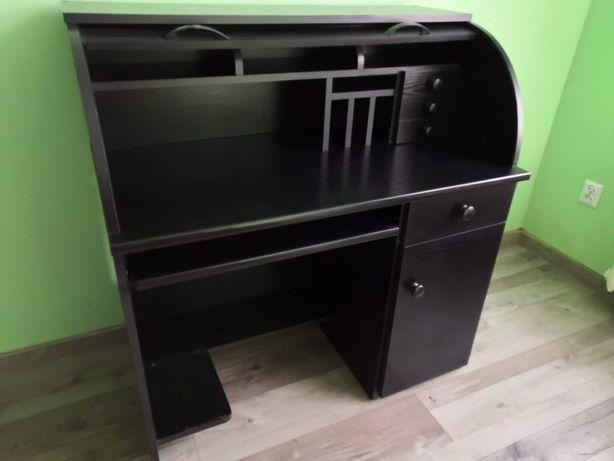 Sekretarzyk, biurko, komoda czarna zamykana