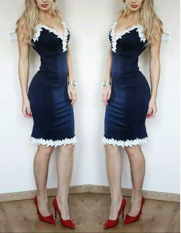 Sukienka midi dopasowana