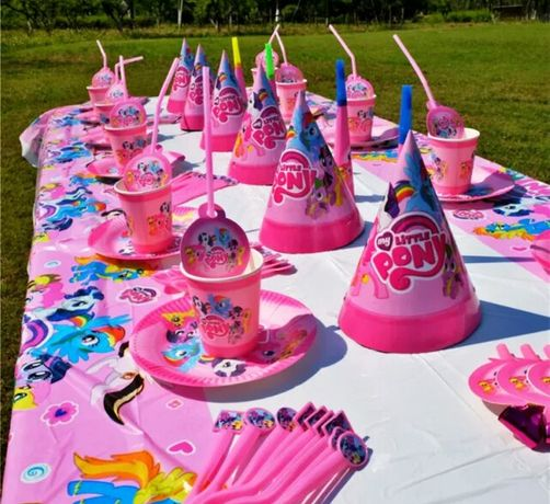 """Декор день рождения""""Литл Понни""""(наборы, гирлянда, бомбаньерки, топпер)"""