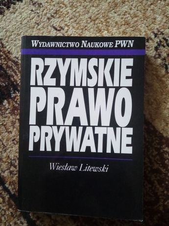 Rzymskie prawo prywatne Wiesław Litewski