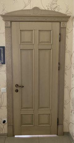 Дверной блок скоробкой и двусторонней обналичкой