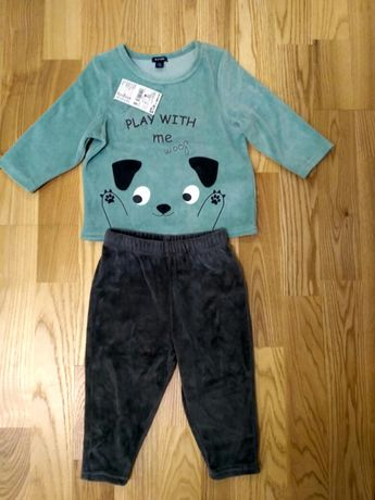 Велюровий костюм Kiabi 12 місяців на хлопчика