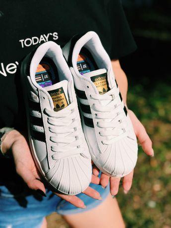Кроссовки белые Адидас Adidas Superstar White білі Суперстари