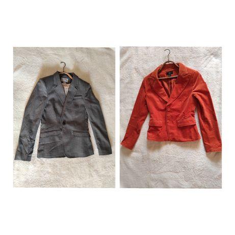 Пиджак женский, серый/оранжевый