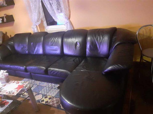 Sofa kanapa skórzana narożna. Stan bardzo dobry.!