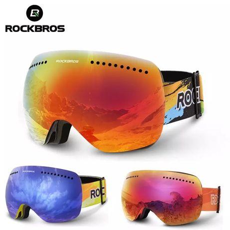 Лыжные защитные очки RockBros для катания на лыжах и сноуборде