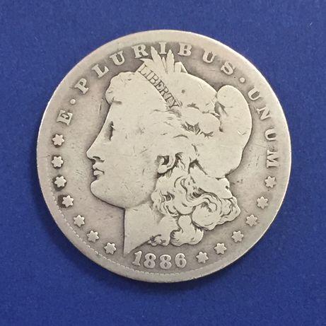 moeda MORGAN DOLLAR 1886-O, prata