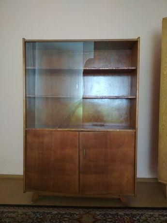 Witryna szklana z 1964 - olsztyńska fabryki mebli / PRL