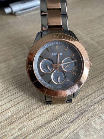 Zegarek damski Fossil ES 3030 bransoletka złoty szary miedziany
