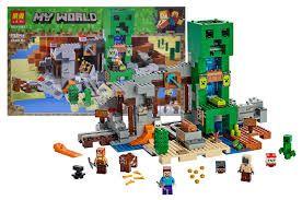 """Конструктор Майнкрафт Minecraft """"Шахта крипера""""Лего совместим 852дет"""