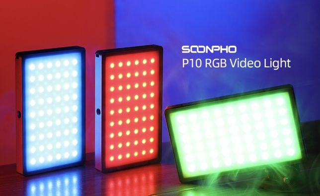 Накамерный свет RGB. (Световая LED панель)