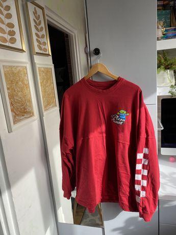 Czerwona bluza oversize pizza planet toy story 1 disney vintage xl