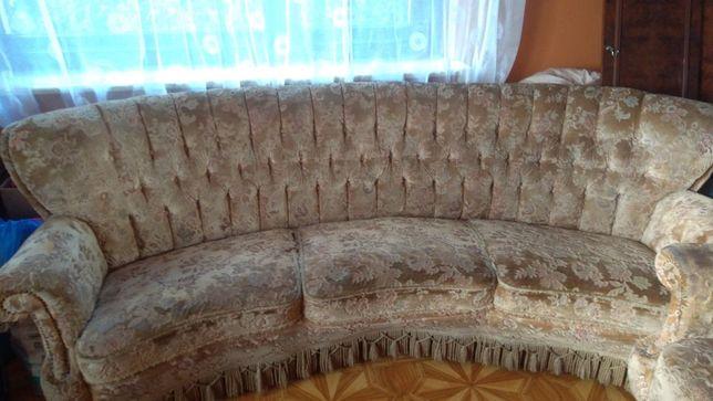 Ogromny Stylowy Komplet Uszak sofa fotel do renowacji tapicerki